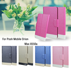 5 Colors Super! Posh Mobile Orion Max X550a Phone Case Leather Cover, Factory Direct Fashion Luxury Full Flip Stand Phone Cases