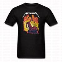 Metallica Heavy Metal Camiseta de La Impresión del verano Mujeres de Los Hombres de Rock n Roll y la Justicia Para Todos O Cuello de la Camiseta de Hip Hop Marca de Ropa Tees