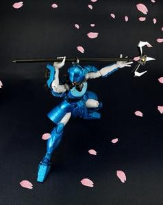 Image 4 - קומיקס מועדון INSTOCK HITOY דגם ללא מעצורים לוחמי YoroiDen סמוראי שוטרי שין Mouri מתכת בד שריון בתוספת
