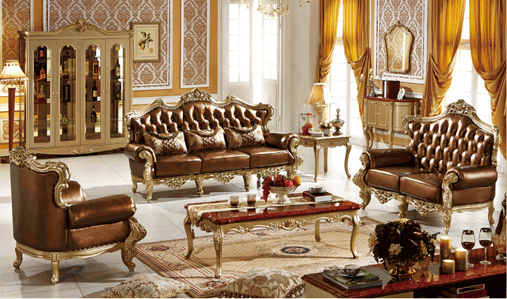 Buy latest sofa designs 2016 french 3 2 1 for Latest living room designs 2016