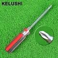 KELUSHI Más Nuevo 2 de alta calidad de doble uso de un destornillador de doble uso doble color crystal seis ángulo bar destornillador destornillador cabeza