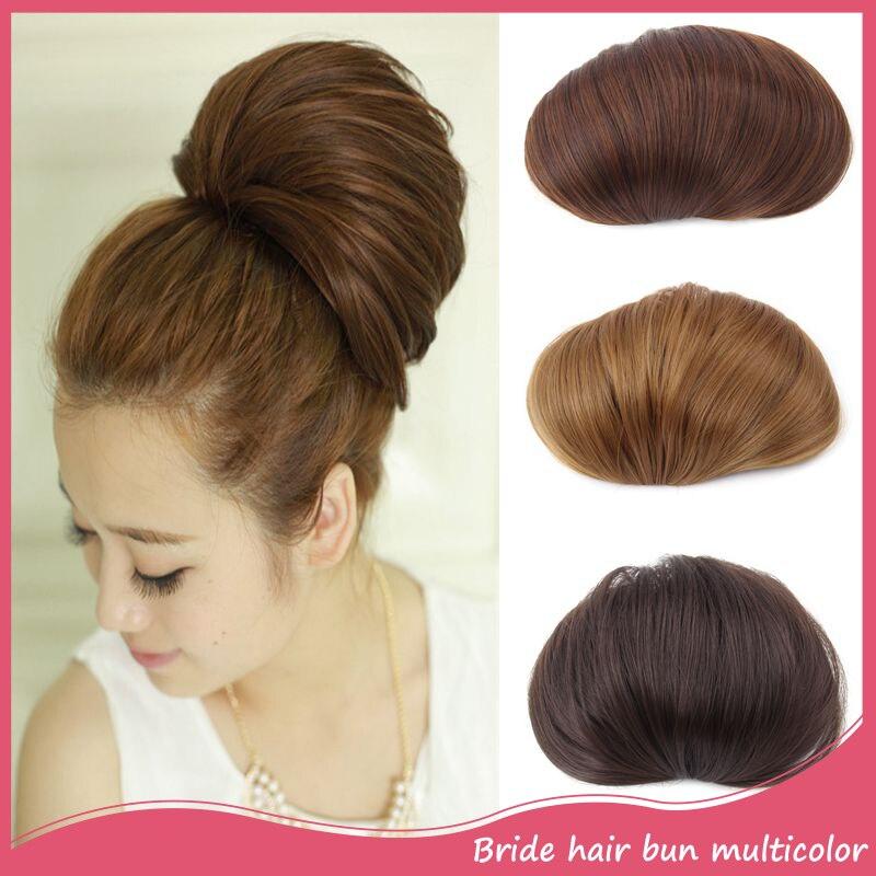 Women S Chignon Bun Synthetic Straight Hair Bun Extension 1pc 80g Fashion Updos Chignon Hair