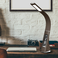 Bussiness desk lamp Touch sensor switch leather LED Eyes protectable Novelty Gift Reading Table Lamp with Flexible gooseneck