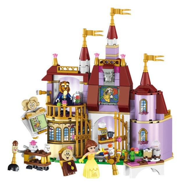 37001 Princess Belles Enchanted Castle Building Blocks for Girl Friends Kids Model Marvel Compatible with Legoings Toys Gift