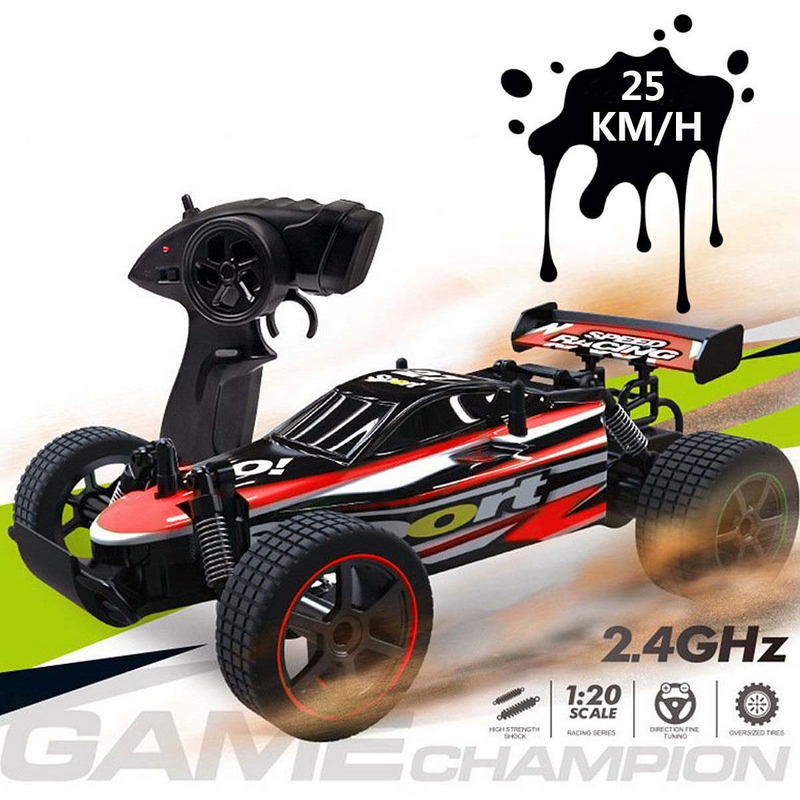 1:20 25km/h RC Car 4WD Remote Control Car 2.4G High Speed 80M Distance Radio Controlled Machine Car Remote Control Toy Cars