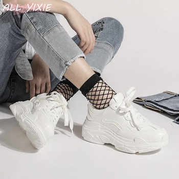 ALL YIXIE 2019 New Summer White Mesh Women Sneakers Fashion Thick Bottom Womens Platform Sneakers Casual Shoes Zapatos De Mujer - DISCOUNT ITEM  40% OFF All Category