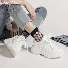 ALL YIXIE 2019 New Summer White Mesh Women Sneakers Fashion Thick Bottom