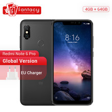 "Global Version Xiaomi Redmi Note 6 Pro 4GB 64GB 6.26"" Notch 19:9 FHD+ Screen Smartphone Snapdragon 636 Octa Core 20MP 4000mAh CE(China)"