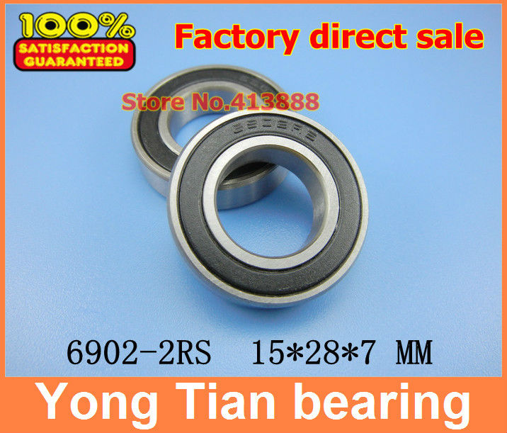 High quality deep groove ball bearing 6902 2RS 6902-2RS 6902RS 6902RZ 61902-2RS 15*28*7 mm 20pcs/lot gcr15 6326 zz or 6326 2rs 130x280x58mm high precision deep groove ball bearings abec 1 p0