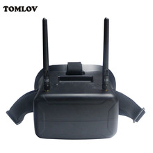 TOMLOV F2-11B 5.8G 40CH FPV Drone Goggle Video Glasses FOV 800 degree For Walkera Runner 250 4.3 Inch Screen W/Battery