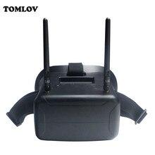 TOMLOV F2-11B 5.8G 40CH FPV Drone Goggle Video Glasses FOV 800 degree For Walkera Runner 250 4.3 Inch Screen W/Battery