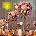 Высота 60 см  золотая металлическая ваза для цветов  подставка для цветов  стол  украшение для свадебной вечеринки