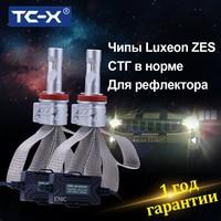 TC X Luxeon ZES LED Headlight H11 9006/Hb4 H4 H7 H16 P13W HB3 9012 H1 H3 LED Lamp for Auto 12v PSX24W PSX26W H13 LED Car Lights