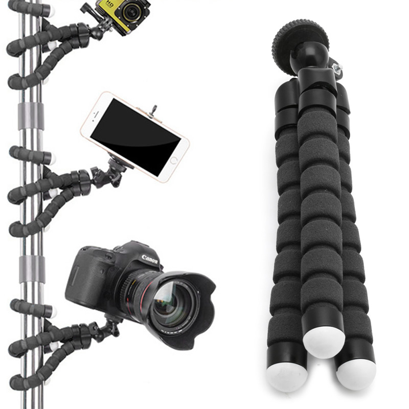 OOTDTY Flexible Tripod Stand Gorilla Mount Monopod Holder Octopus For GoPro Camera