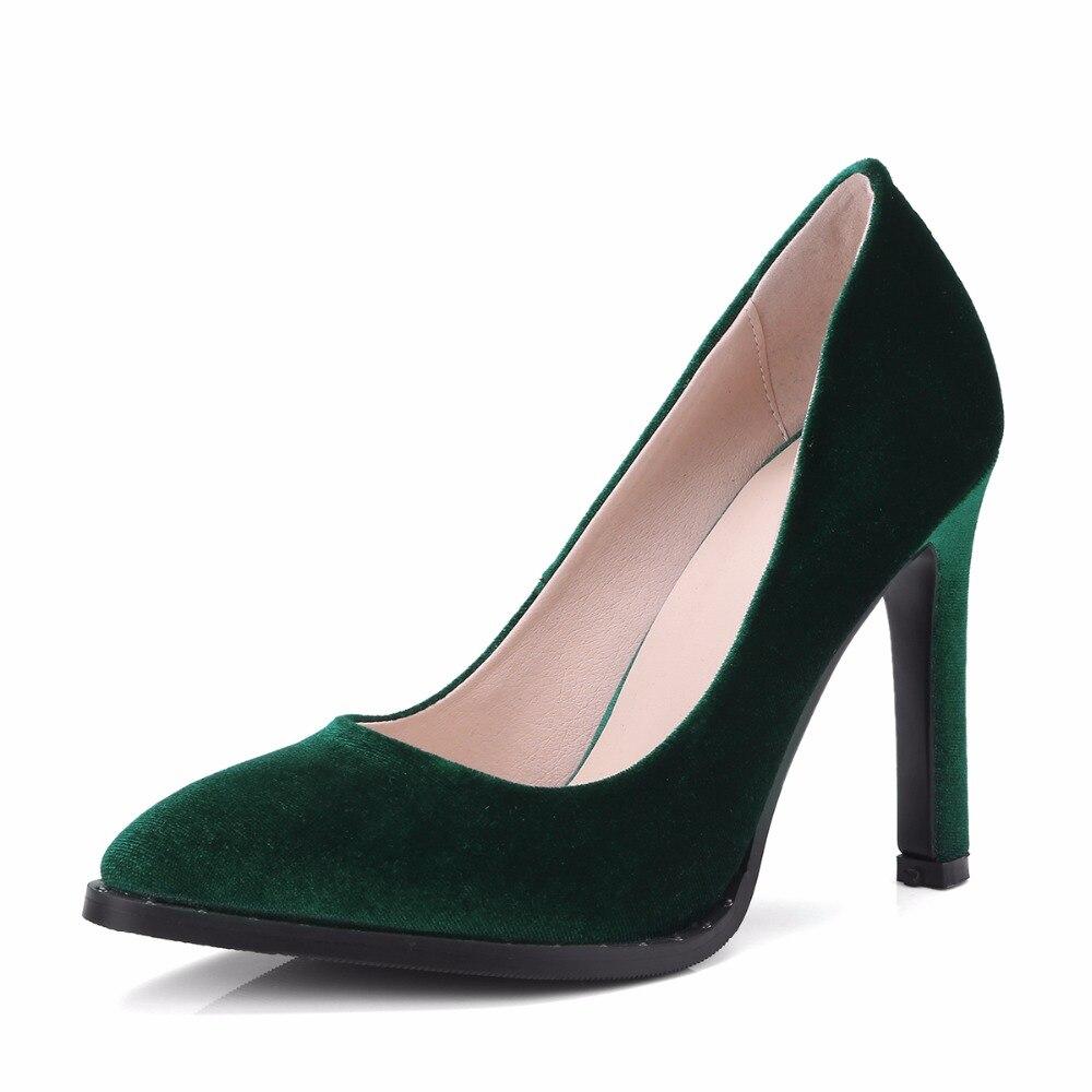 Stilettos Real green Verde royalblue Otoño Oficina Black Zapatos Bombas Primavera On Furtado Fiesta 43 Señora 40 Azul Slip Grande Arden 2018 Talla Fashion 1xBPzq8