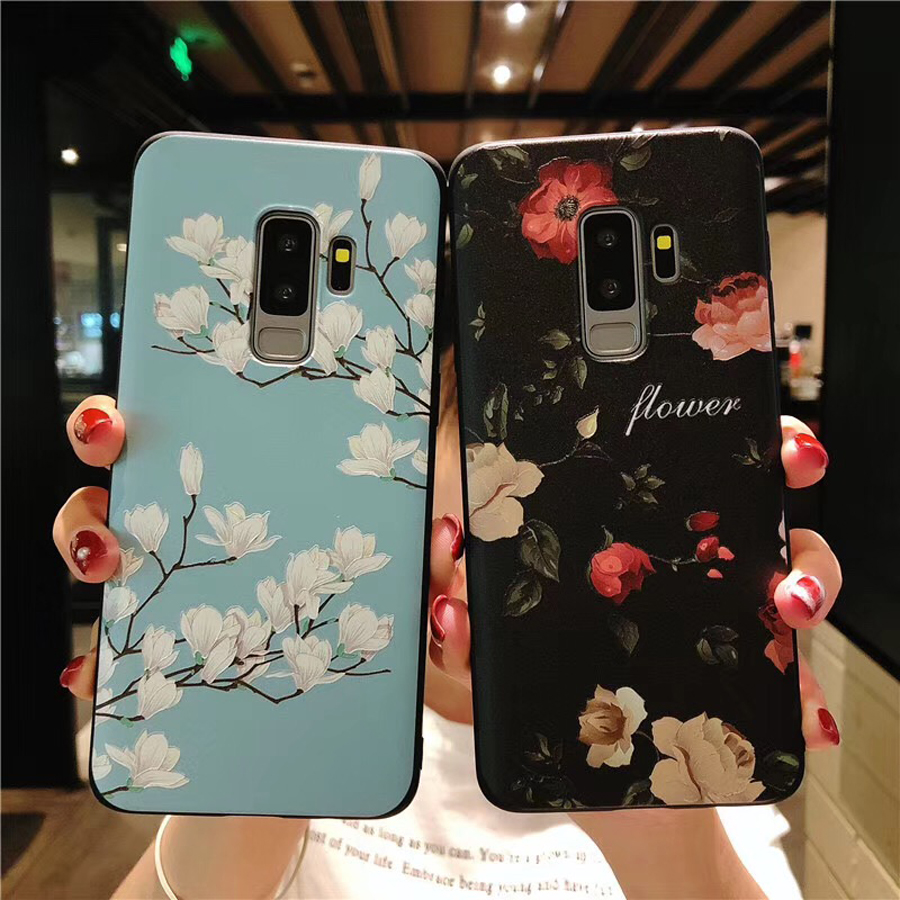 3d rose flower tpu case For samsung galaxy s10 s9 s8 plus s10e s10 lite note 9 8 case cover Retro floral soft silicon phone bag in Fitted Cases from Cellphones Telecommunications