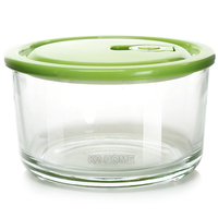 Premium Meal Container Glass Lunch Bento Box Food Prep Freezer Containers Lunch Containers Food Storage Round Box Clear
