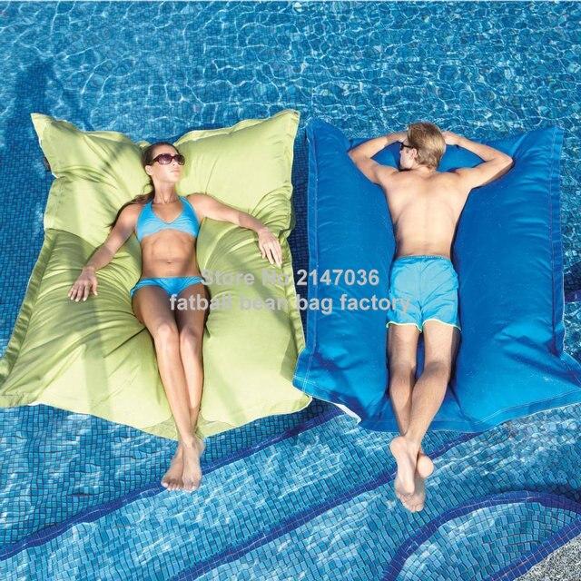 Acomodar confortavelmente dois adultos de luxo de grandes dimensões flutuador beanbag, piscina flutuante almofada do saco de feijão salão-diversão ao ar livre