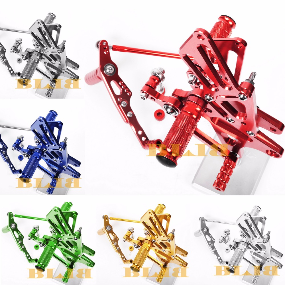 8 Colors CNC Rearsets For Yamaha YZF R1 2009 - 2014 2013 2012 2011 2010 Rear Set Motorcycle Adjustable Foot Stakes Pegs Pedal motorcycle fz1 fz8 adjustable rearset rear set foot rests foot pegs for yamaha fz1 2006 2014 and fz8 2010 2011 2012 2013 new