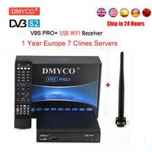 1 Year Europe Cline Server Spain HD DVB-S/S2 Satellite Receiver Full 1080P 3G IPTV TV Receptor With V8 USB Wifi