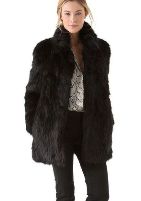 0a0c0d45a7 White/Black Faux Fur Coat Women Winter Coat Medium-long Rabbit Fox Fur  Coats Plus Size XXXL Women's Fur Jacket Big Size PC067