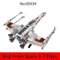 05039 Space Star Wars Series Five X wing Starfighter Death Star Ship Building Blocks Compatible Set 10240 Bricks Toys for Gift