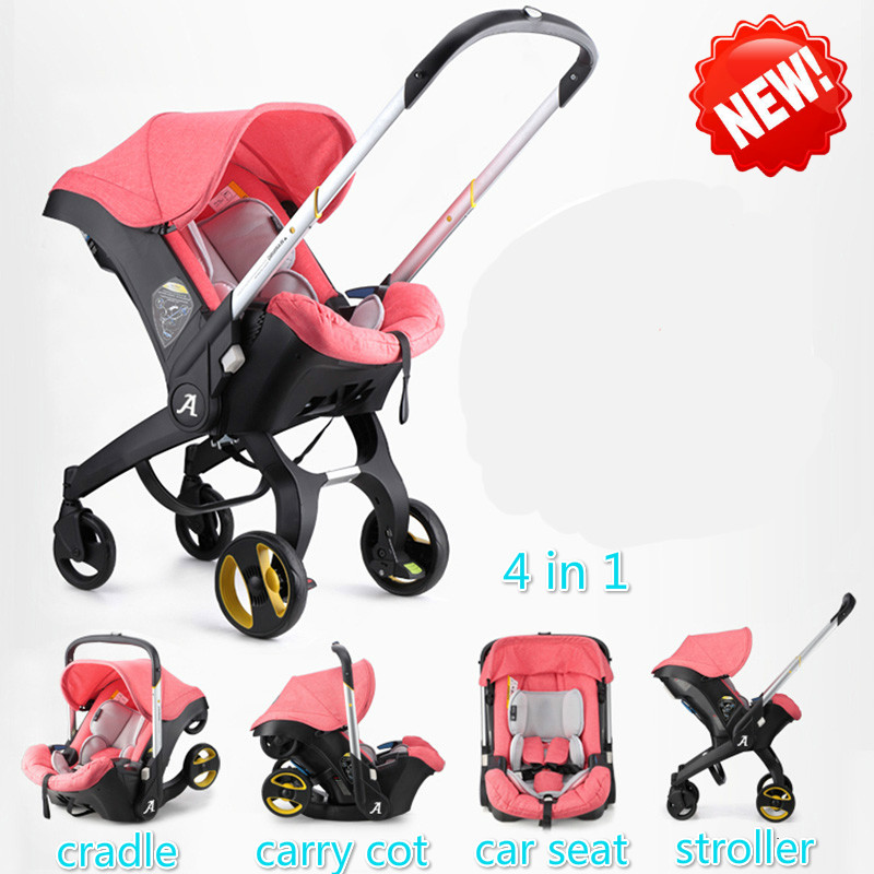 Brand baby <font><b>strollers</b></font> 3 in 1 car folding light with car seat <font><b>stroller</b></font> and baby bassinet Prams For Newborns Landscope 4 in 1