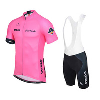 NEW Pro Pink Strava Cycling Jersey Kit Women Summer Mtb Bicycle Clothing Ropa Sportswear Bike Cycling Outfit Set