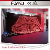 RGB цветной светодиодный дисплей изображение и вспышка большой размер 4,5x8 м занавеска P10cm led занавес для шоу