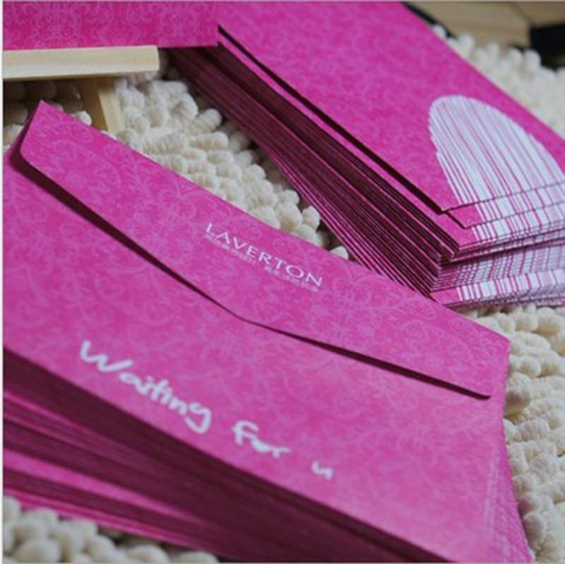 10pcs/lot European High-Grade Invitation Letter Envelope Romantic Wedding Invitation Postcards Color Love Letters White Envelope