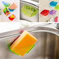 1Piece Hot Sale Bathroom Shelf Super Suction Family Sucker Hooks For Sponge Kitchen Accessories Home Storage Holders & Racks