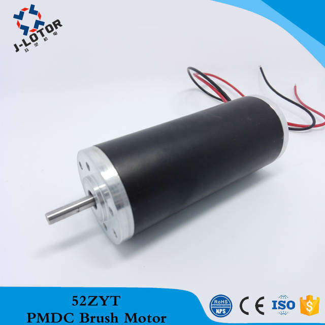 US $53 0 |52ZYT03A 3000rpm 12V 24V 48V price small electric dc motor  Permanent Magnet Brush DC Electric Motor with 0 17N m for bicycle-in DC  Motor