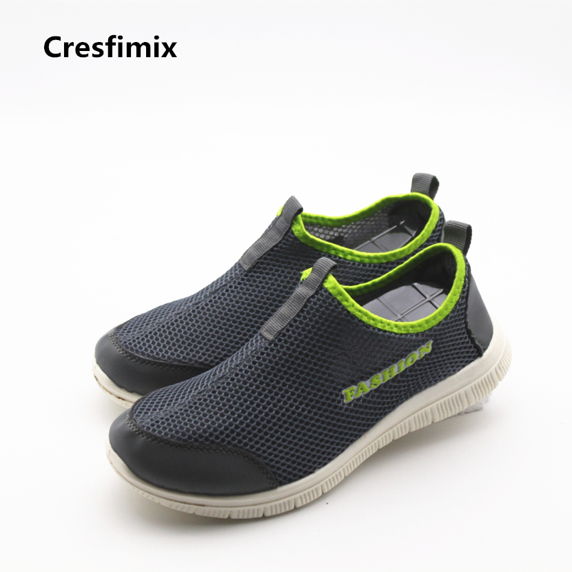 Cresfimix women plus size soft & comfortable shoes lady cute mesh breathable slip on shoes zapatos de mujer female casual shoes cresfimix women casual breathable soft shoes female cute spring
