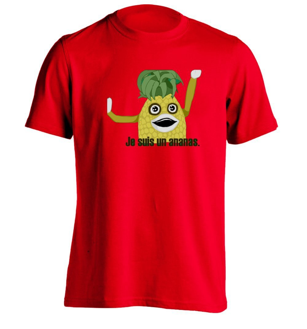 JE SUIS UN ANANAS Mens Design Printing T Shirt Funny Tee-in T ...