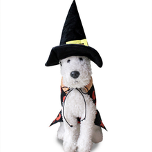 1 Suit Santa Claus Pets Clothes Halloween Dogs Witch Clothing Polyester Cotton Cross Dressing Party Pets Costume