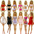 Сексуальный кукла 3-Piece женское бельё вечерние костюмы для 1/6 девочка куклы платье + бюстгальтер + нижнее белье кружево ночное пижамы трусы 6 комплект / много