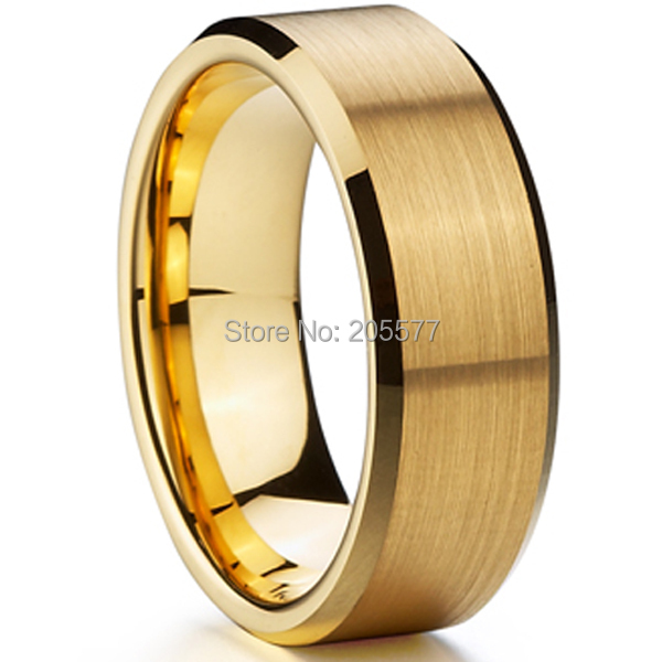 Classic 8mm Men Ring Titanium Wedding Band Gold Ion Plating Fashion Bridal  Jewelry USA Design Free Shipping In Wedding Bands From Jewelry U0026  Accessories On ...