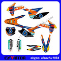 NEW STYLE ORANGE 3M TEAM GRAPHICS  CUSTOMIZE BACKGROUND DECALS STICKERS KITS SET FOR  KTM SX SXF 125 150 250 350 450 2015