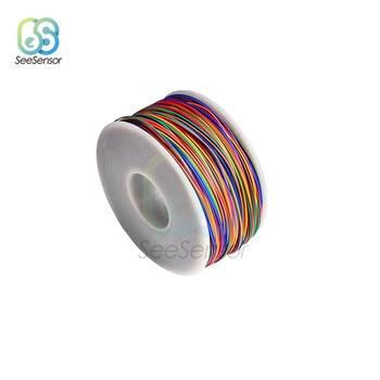 280m 8 colores 30AWG Cable de Envoltura de cable estañado cobre Aislamiento de PVC sólido cable eléctrico 0,25mm para pantallas LCD de cuadernos