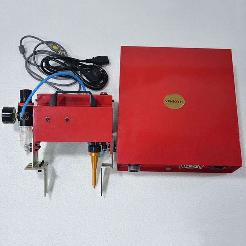 Portable Metal Pneumatic Dot Peen Marking Machine For VIN Code 100 20mm Frame Marking Machine chassis