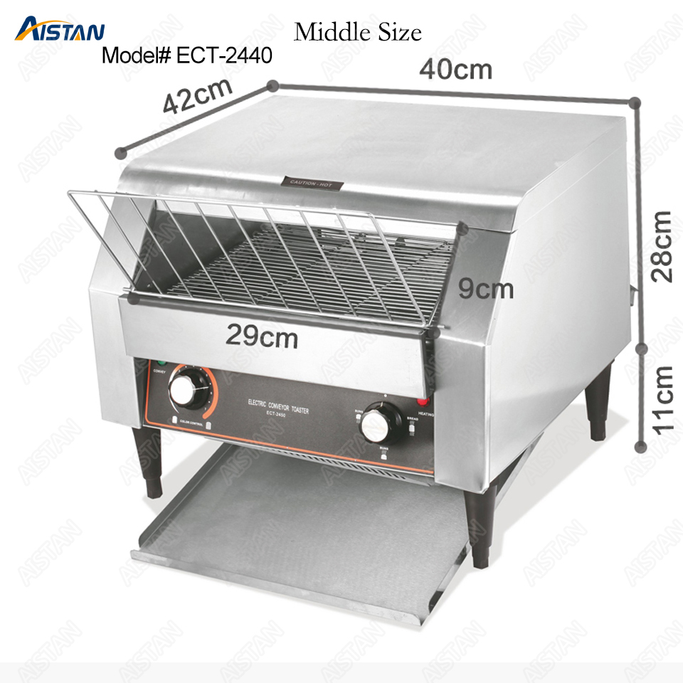 ECT2440 commercial electric conveyor bun bread pizza cookie toaster oven machine for restaurant electric conveyor toaster ct 150 conveyor toaster oven 150 180 slices of bread 1hr