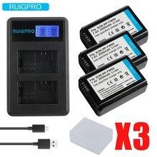 цена на 3Pcs 2000mAh NP-FW50 NP FW50 NPFW50 Battery Akku + LCD Dual Charger for Sony Alpha a6500 a6300 a7 7R a7R a7R II a7II NEX-3 NEX-5