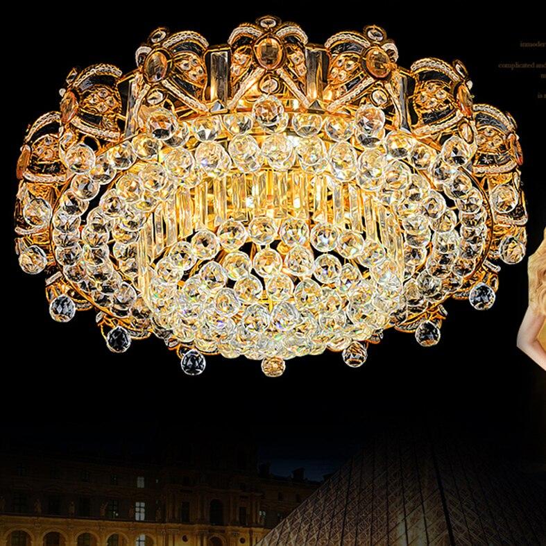 Modernas Lâmpadas de Teto de Cristal LEVOU Luzes de Teto Luminária Para Casa Quente Neutro Ouro Branco Frio 3 Cores Mutáveis com o Controlador