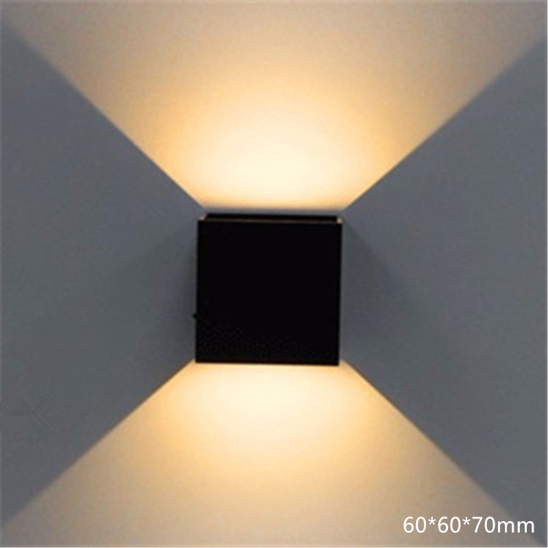 10 шт./лот светодиодный настенный светильник 3 Вт AC110V 220 В украсить дом бра Спальня Коридор Свет ...