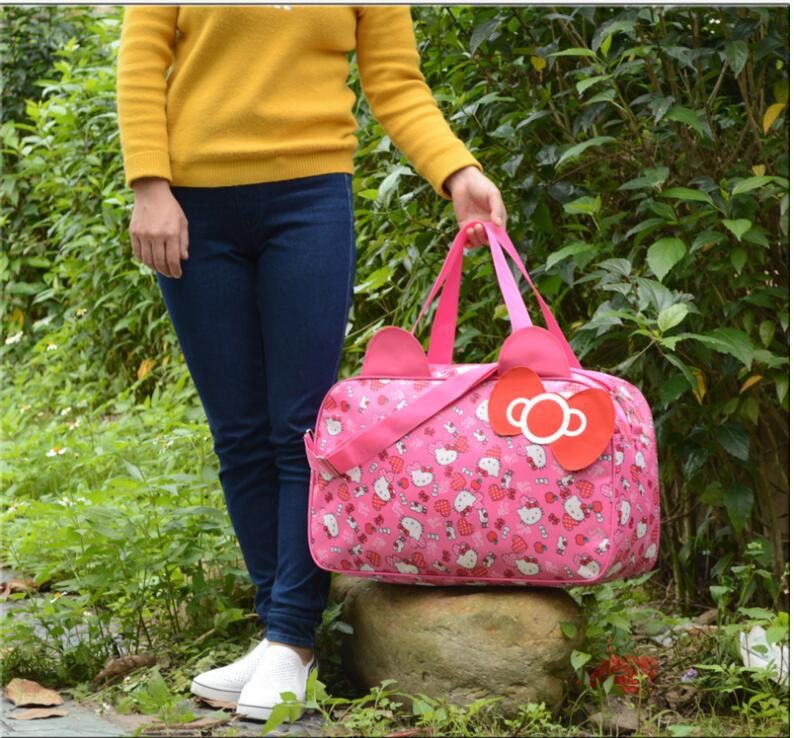 Cute Hello Kitty Handbag Girl `s Women `s Travel Messenger Bags Dual-use  Organizer Shoulder Accessories Supplies Products 1a300f0039cce