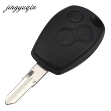 jingyuqin 10pcs lot 3 Button Remote VAC102 Key Shell for Renault Duster Logan Fluence Clio Sandeo