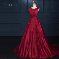 מדגם אמיתי אדומה ארוכת שרוולים רכבת קפלת אירוע מיוחד אלגנטי ארוכות שמלות ערב abendkleider 2015 ASAE11 בתוספת גודל