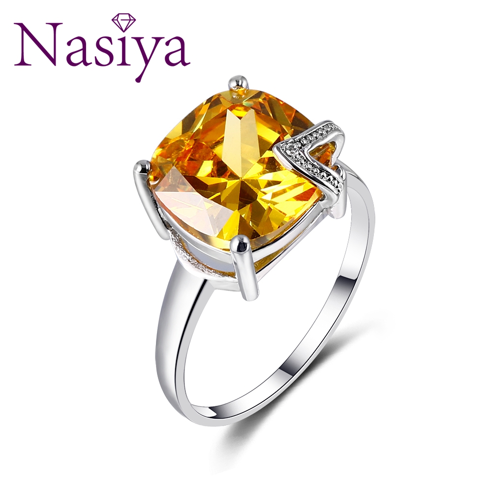 Nasiya Charm Sample Design Created Gemstone Rings 100% Genuine 925 Sterling Silver Women Fashion Jewelry Daily Life Wholesale