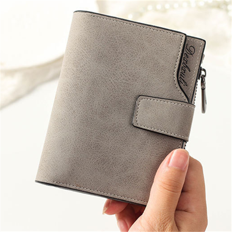2018 Fashion Wallet Female Short Design Matte Pu Leather Women Wallet Brand Small Women Purse Female Mini Coin Purse Card Holder