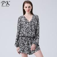PK floral jumpsuit short summer 2018 new sexy women ladies flora playsuit girls rompers womens jumpsuit shorts combinaison femme